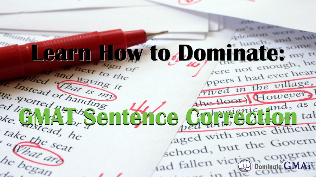 Sentence Correction GMAT video tutorial