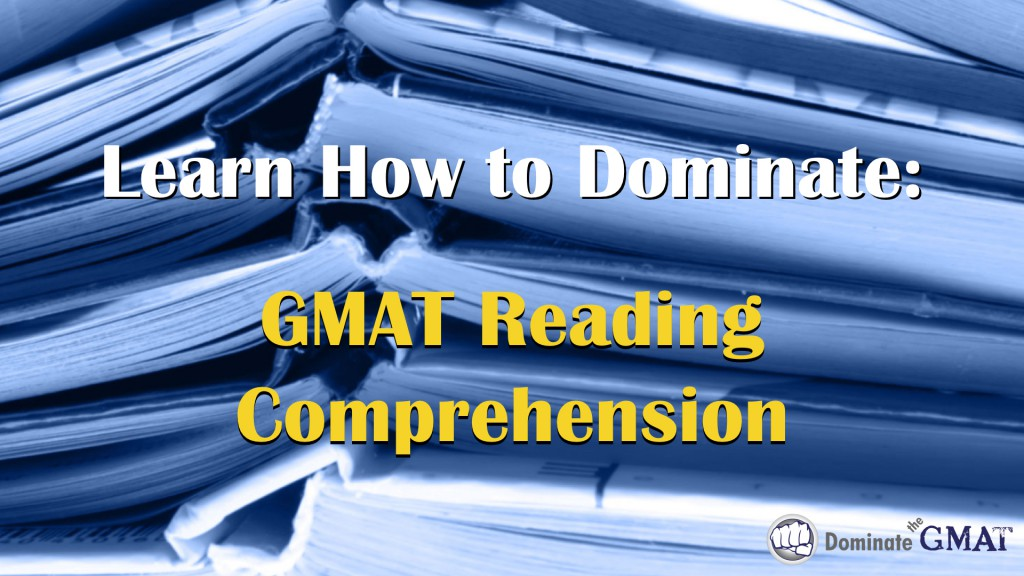 GMAT Reading Comprehension video course