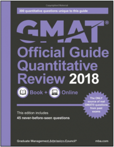 The Official Guide for GMAT Quantitative Review 2018 textbook
