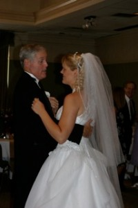 My dad dancing with my bride, Melanie, at our wedding in 2004