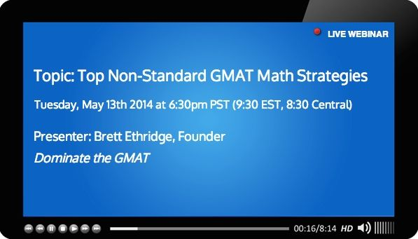 Free GMAT webinar may 13 covering top gmat math strategies