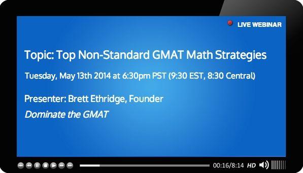 Free GMAT webinar may 13 covering top gmat math strategies