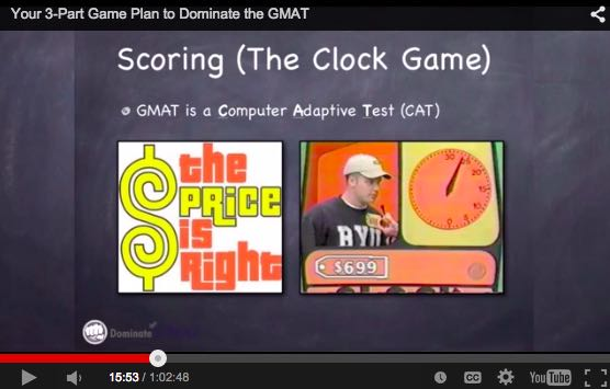Free GMAT webinar about how to beat the gmat