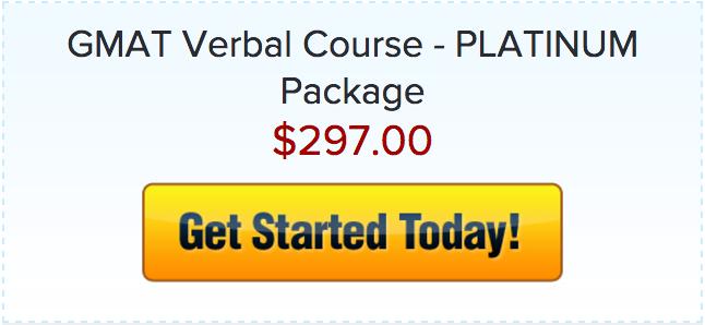 Verbal Course GMAT Platinum
