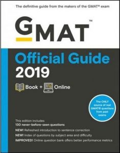 Cover image of the new 2019 GMAT OG