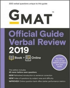 Practice GMAT verbal questions Official Guide textbook